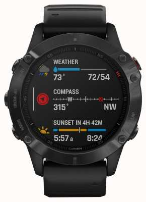 Garmin Fenix 6 pro gorilla glass | smartwatch multidesporto | pulseira de borracha preta 010-02158-02