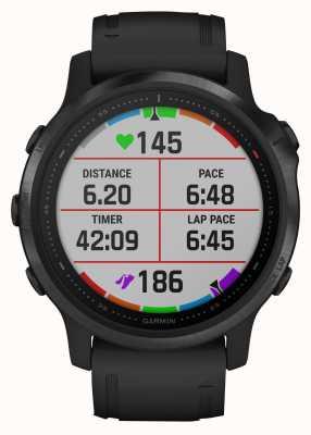 Garmin Fenix 6s pro | smartwatch multidesporto | pulseira de borracha preta 010-02159-14