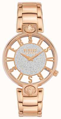 Versus Versace | kirstenhof para mulher | pulseira de ouro rosa | mostrador de glitter | VSP491519