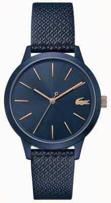 Lacoste | 12.12 para mulher | pulseira de couro azul | mostrador azul | 2001091