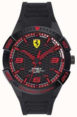 Scuderia Ferrari | ápice dos homens | pulseira de borracha preta | mostrador preto / vermelho | 0830662