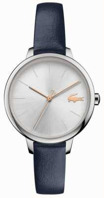 Lacoste | cannes para senhora | pulseira de couro azul | mostrador prateado | 2001100
