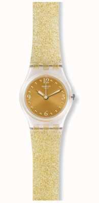 Swatch   senhora original   glistar dourado também assista   LK382