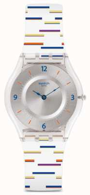 Swatch   pele clássica   relógio forro fino   SFE108