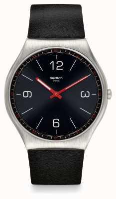 Swatch | ironia da pele 42 | relógio skinblack | SS07S100
