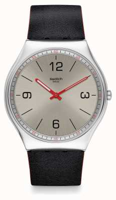 Swatch | ironia da pele 42 | relógio skinmetal | SS07S104