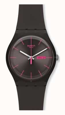 Swatch   novo senhor   rebelde marrom relógio   SUOC700