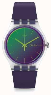 Swatch   novo senhor   relógio polapurple   SUOK712
