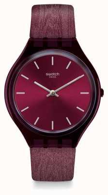 Swatch   pele regular   relógio skintempranillo   SVOV101