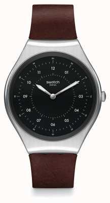 Swatch   ironia na pele   relógio escovado   SYXS102
