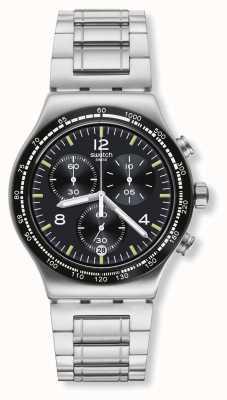 Swatch   novo crono ironia   relógio de vôo noturno   YVS444G