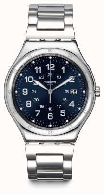 Swatch   grande ironia clássico   barco azul relógio   YWS420G