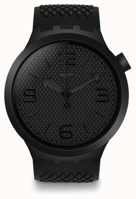 Swatch   grande negrito   relógio bbblack   SO27B100