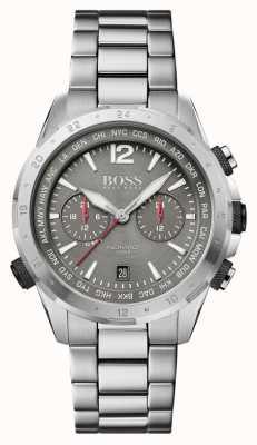 Boss | nômade | cronógrafo | pulseira de aço | mostrador cinza | 1513774