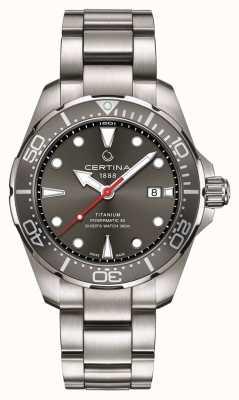 Certina | ação ds | mergulhador powermatic 80 | titânio | C0324074408100