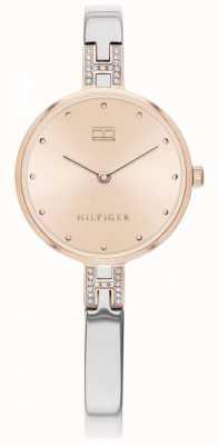 Tommy Hilfiger Kit pulseira de aço inoxidável | mostrador em ouro rosa | 1782138