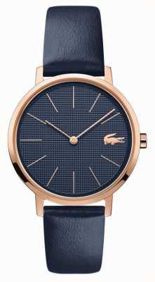 Lacoste | lua das mulheres | pulseira de couro azul | mostrador azul | 2001071