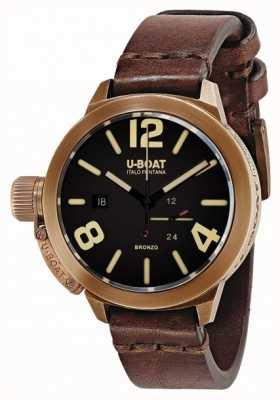 U-Boat Classico 50 bronzo uma pulseira marrom 8104