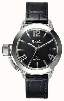 U-Boat Bracelete jacaré Classico 40 ss diamantes brancos 6950