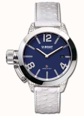 U-Boat Classico 40 ss azul diamantes brancos 7077