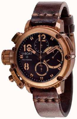 U-Boat Chimera chrono 43mm pulseira marrom bronze 8014