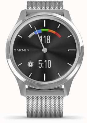 Garmin Vivomove luxo | caixa de aço inoxidável | banda de prata milanesa 010-02241-03