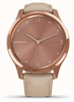 Garmin Vivomove luxo | Capa de pvd em ouro rosa de 18k | couro italiano 010-02241-01