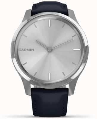 Garmin Vivomove luxo | caixa de aço inoxidável | marinha de couro italiano 010-02241-00