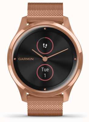 Garmin Vivomove luxo | Caso de 18k pvd | pulseira de ouro rosa milanesa 010-02241-04