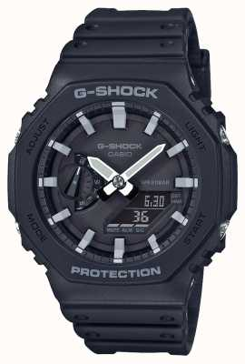 Casioak | núcleo de carbono g-shock | série octógono | pulseira de resina preta | GA-2100-1AER