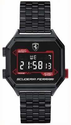 Scuderia Ferrari | digidrive de homem | pulseira de iões | mostrador preto | 0830704