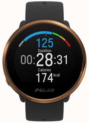 Polar | inflamar | relógio de fitness preto e cobre | m / l borracha preta 90079362