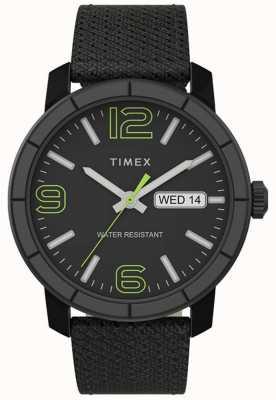 Timex | mod 44mm para homem | pulseira de nylon preta | mostrador preto | TW2T72500