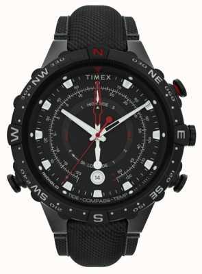 Timex | aliado 45mm | alça de tecido preto | mostrador preto | TW2T76400