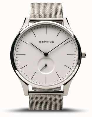 Bering | clássico prata polida para homem | pulseira de malha de aço | 16641-004