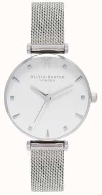 Olivia Burton | mulheres | borboleta social | mostrador branco | pulseira de malha OB16MB12