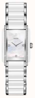 Rado Relógio de mostrador quadrado de cerâmica de alta tecnologia com diamantes integrais R20215902