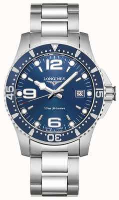 Longines | hidroconquista | Caixa de 41mm | mostrador azul | quartzo suíço L37404966