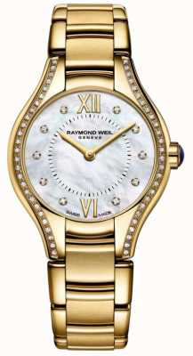 Raymond Weil | mulheres | noemia | diamante pulseira de ouro pvd 5124-PS-00985