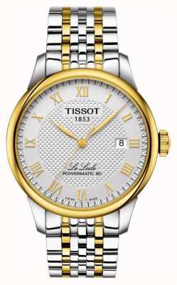 Tissot | le locle powermatic 80 | pulseira de aço inoxidável de dois tons T0064072203301
