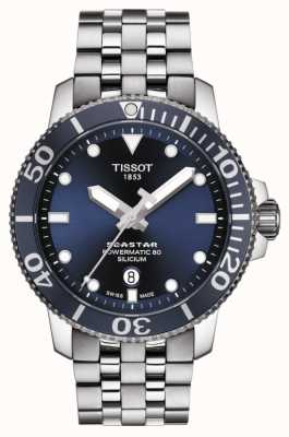 Tissot | seastar 1000 powermatic | pulseira de aço inoxidável | T1204071104101