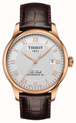 Tissot | le locle | powermatic 80 | pulseira de couro marrom | T0064073603300