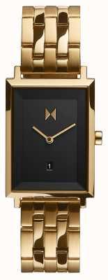 MVMT Praça de assinatura | pulseira banhada a ouro | mostrador preto | D-MF03-GGR