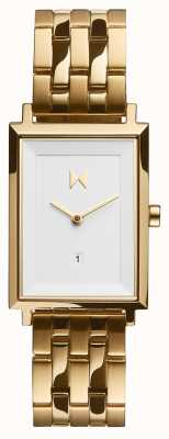 MVMT Praça de assinatura | pulseira de aço banhado a ouro | mostrador branco D-MF03-G