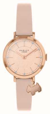 Radley Rua Selby | pulseira de couro rosa | mostrador rosa / ouro rosa | RY2864