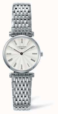 Longines Bracelete em prata clássica Elegance | rosto branco | L42094716