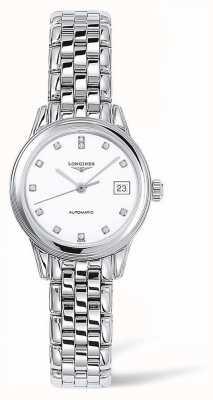 Longines Capitânia | pulseira de prata | rosto branco | L42744276