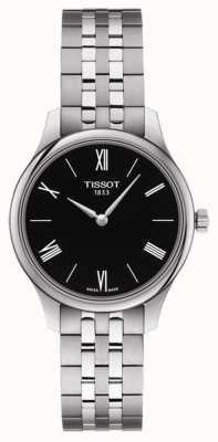Tissot | tradição feminina | pulseira de aço inoxidável | mostrador preto T0632091105800