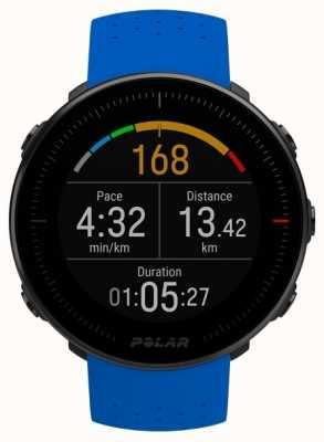Polar | vantagem m | monitor de freqüência cardíaca | pulseira de borracha azul 90080197