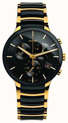 Rado Cronógrafo Centrix xl gold tone high-tech ceramic R30134162